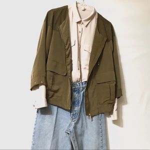 Forever 21 military inspired button up sz M